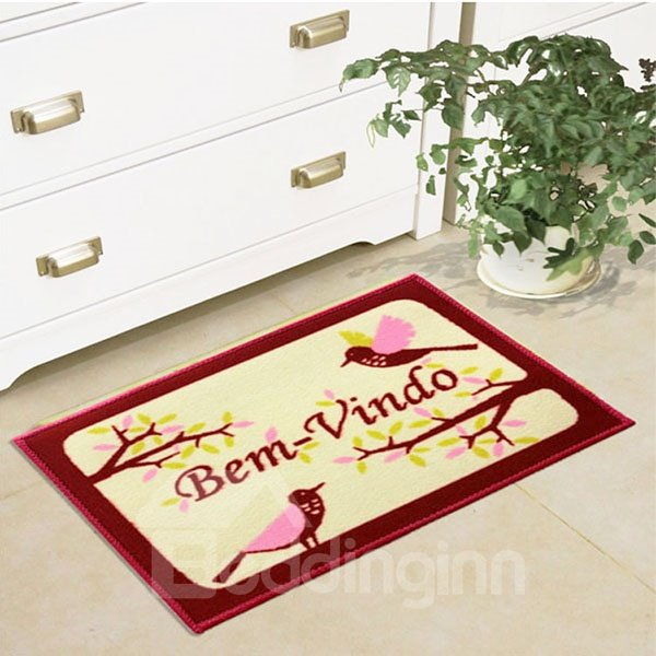 Birds on Tree Braches Bem Vindo Anti-Slipping Area Rugs