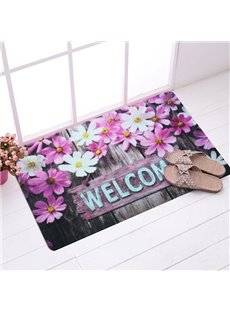Romantic Pink Daisy Anti-Slipping Welcome Doormat
