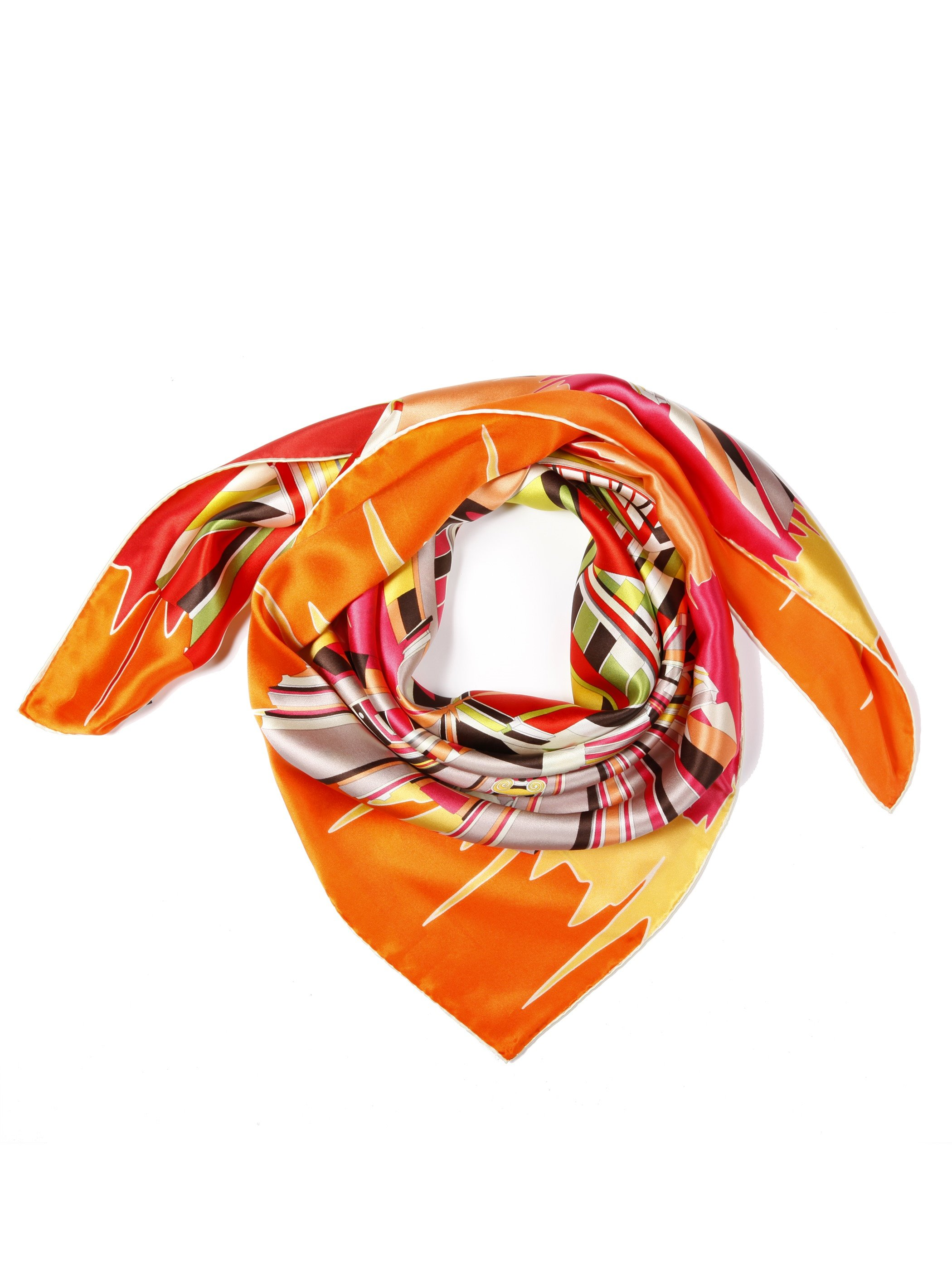 Gorgeous Geometric Patterns Mulberry Silk Square Scarf