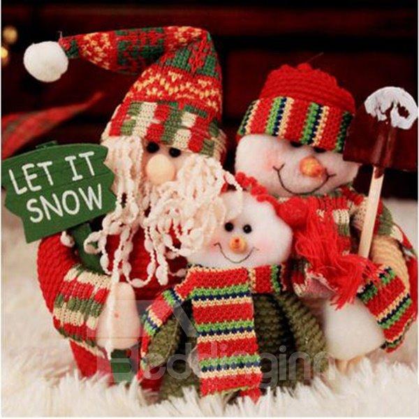 lovely santa clause famliy 20cm christmas decoration