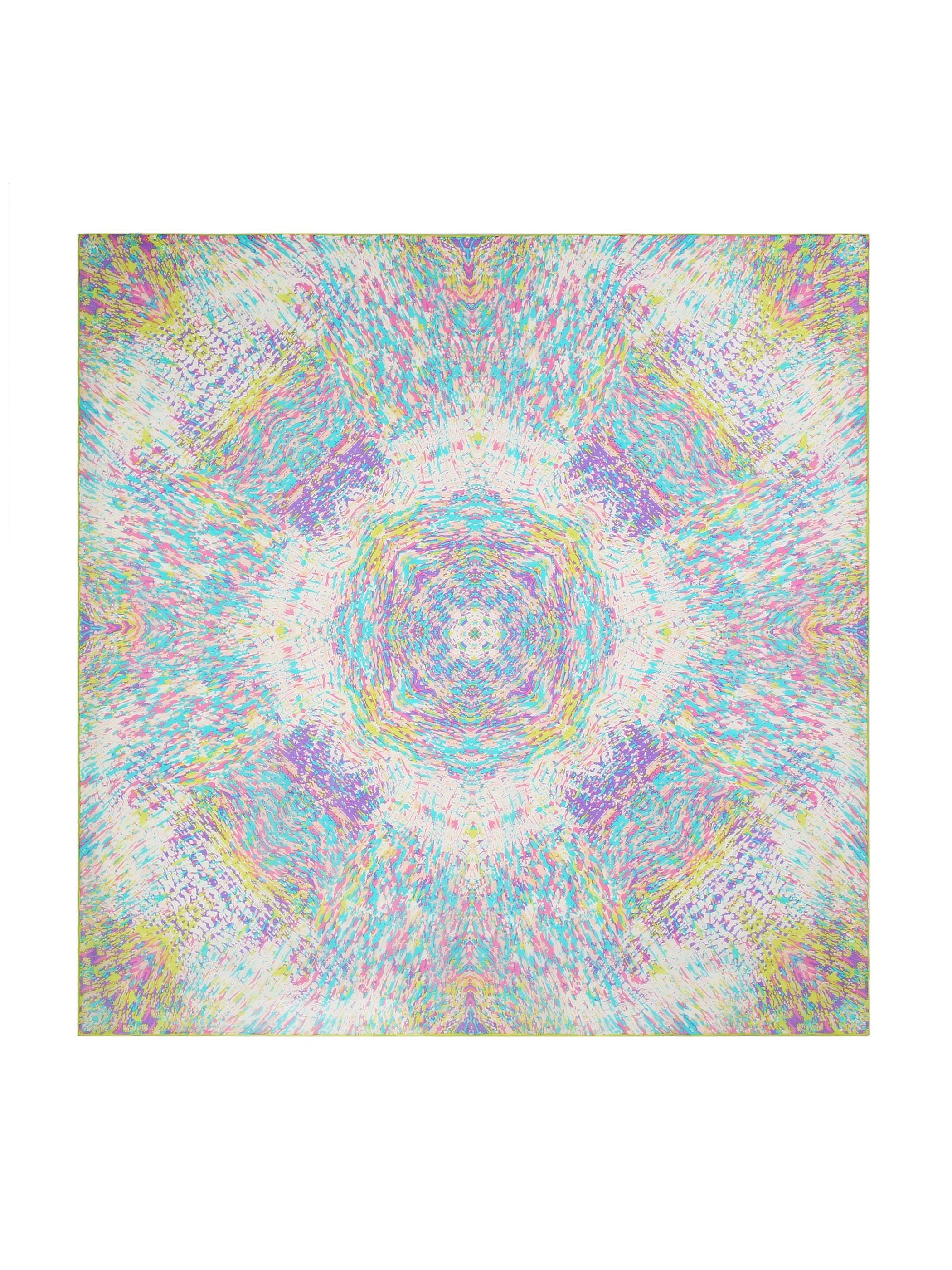 Coloring Game Hand Made Edge Beautiful Square Silk Scarf