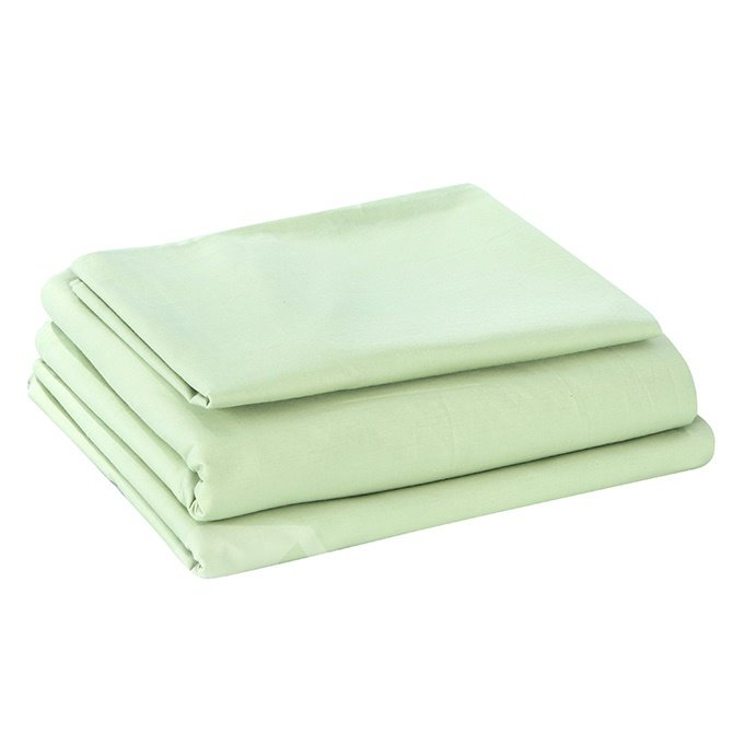 Fresh Solid Color Style Green 4-Piece Duvet Cover Sets