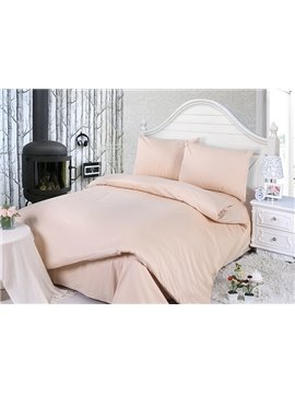 Plain Solid Color Super Smooth & Cozy 4-Piece Duvet Cover Sets