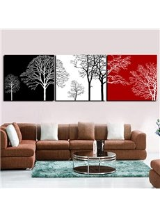 Modern Abstract Trees in 3-Color 3-Panel Wall Art Prints