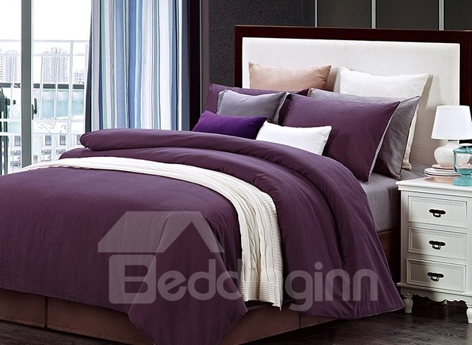 Full Cotton Color Joint Style 4-Piece Duvet Cover Sets