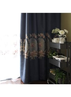Royal Style High Quality Embroidery Double Pinch Pleat Curtain