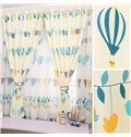 High Quality Cartoon Design Pastoral Style Children Room Blackout Grommet Top Curtain