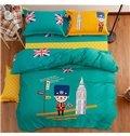Lovely British Style Kids Organic Cotton Duvet Cover Set