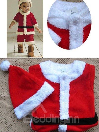 Bouncy Red Lovely Santa Baby Boy Costume