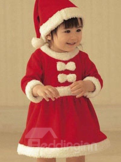 Bouncy Red Lovely Santa Baby Girl Costume