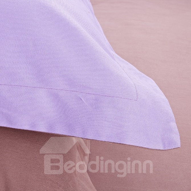 Refreshing Lilac 100% Cotton 4-Piece Duvet Cover Sets