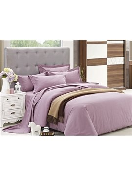 Neat Simple Solid Color 4-Piece Duvet Cover Sets