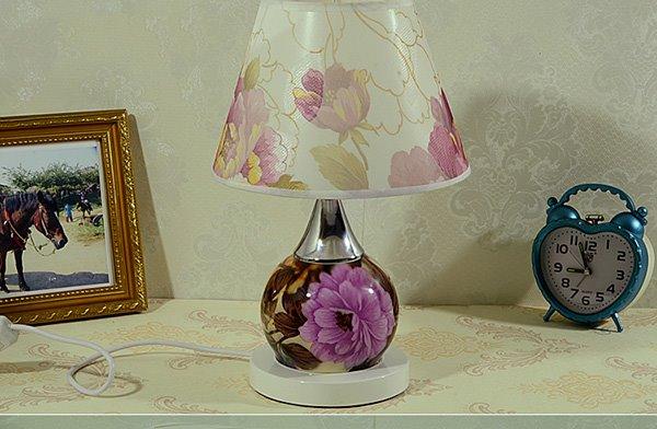 Gorgeous Romantic Flower Peony Desk Table Bedside Lamp