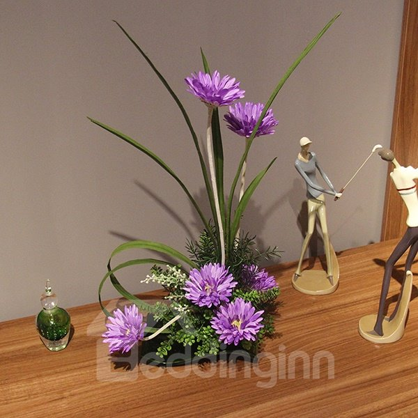 Lovely African daisy Desk Table Decoration Artificial Flowers Sets