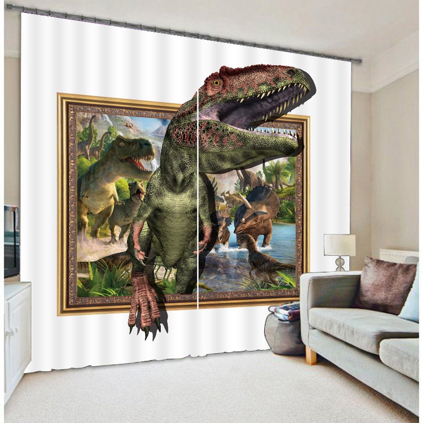 Amazing 3D Dinosaur Light Blocking Curtain