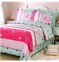 Graceful Butterfly Pattern 100% Cotton 4-Piece Duvet Cover Set