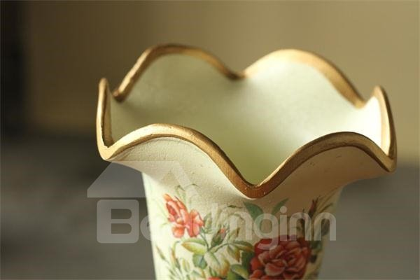 Classic Elegent European Style Artificial Flower with Vase