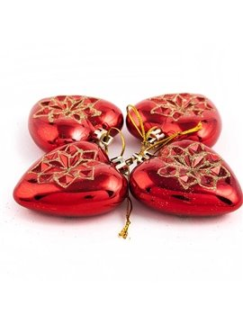 Romantic Heart Shape 4-pieces Christmas Decoration