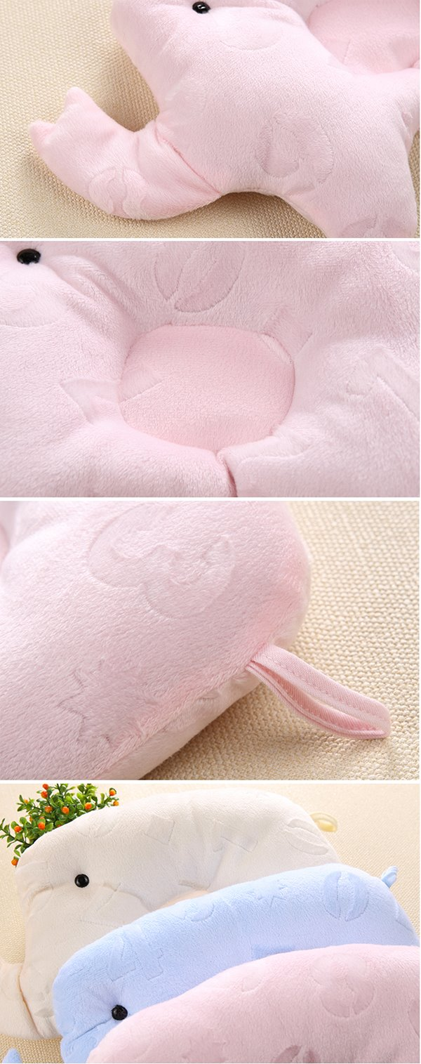 Lovely Elephant Shape Prevent Flat Head Newborn Baby Pillow