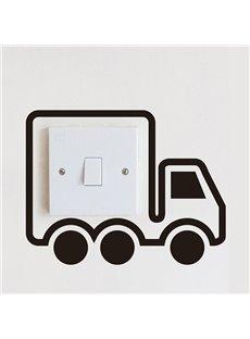 Creative Little Truck Light Switch Removable Wall Sticker