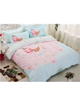 Beautiful Morning Kids 4-Piece Cotton Duvet Cover Set