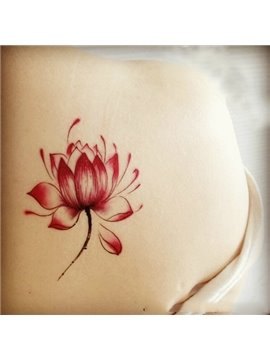 Gorgeous Fashionable Lotus Flower Pattern Body Tattoo Sticker