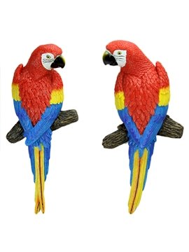 Lovely Decorative Resin Parrot Wall Art Decoration