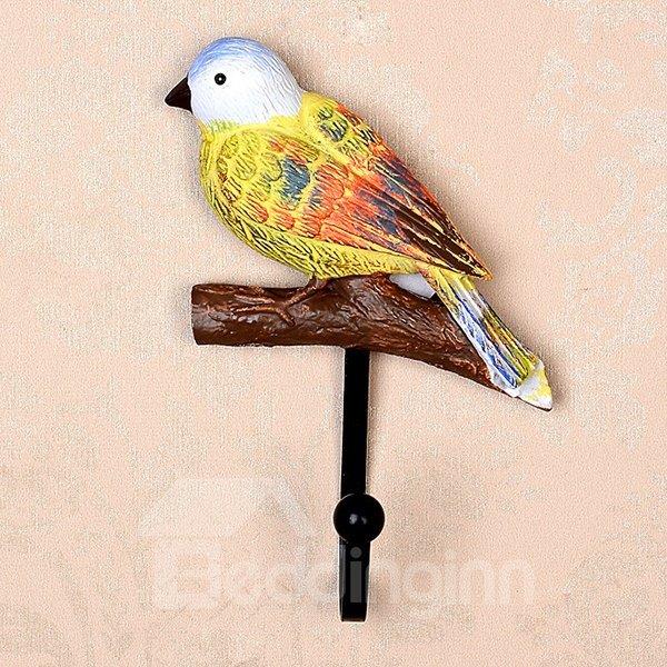 Elegant and Delicay Birds Design 1-Set Resin Wall Hooks