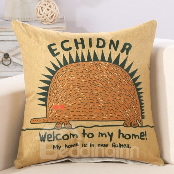 Creative Welcome to My Home Print Throw Pillow