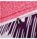 Vivid Giraffe Print Cotton Kids 4-Piece Duvet Cover Set