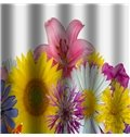 Gorgeous Vivid Water Flower Bathroom Shower Curtain