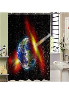Stunning Unique Space Light Print 3D Shower Curtain