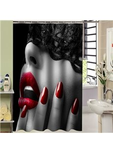 Charming 3D Hot Girl Design Shower Curtain
