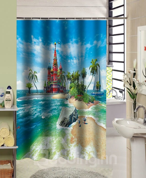 European Style Amazing Castle Design 3D Shower Curtain
