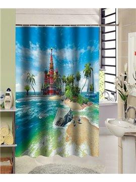 European Style Amazing Castle Design 3D Shower Curtain