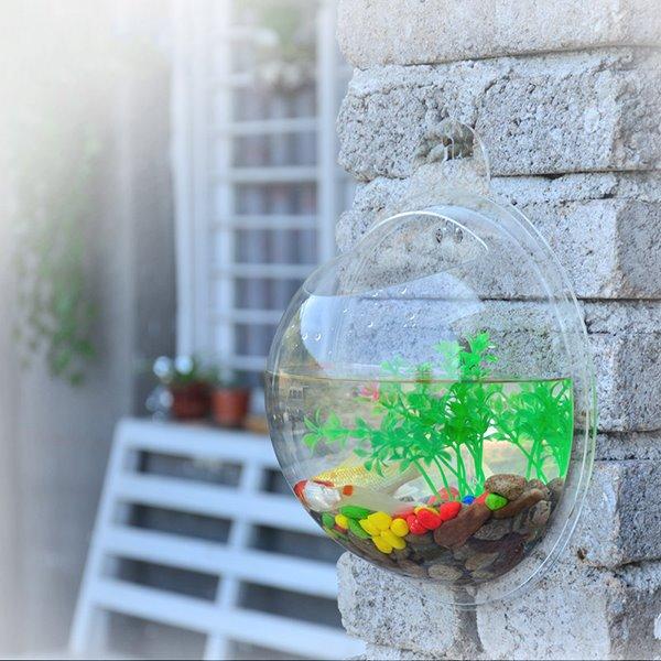 Creative Acrylic Wall Flower Vase Mini Fish Bowl