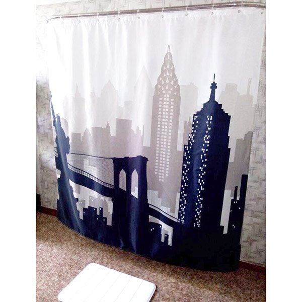European Style Attractive Night View Print Shower Curtain