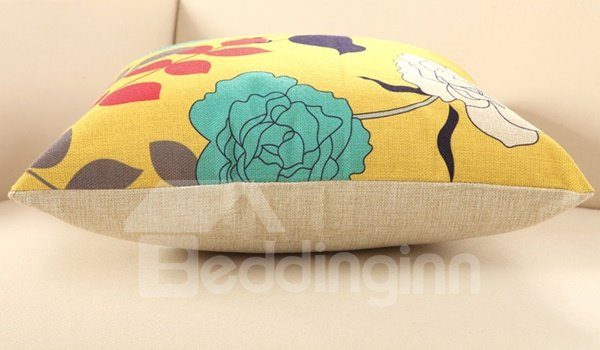 Bird Waiting for Blossoming Print Throw Pillow
