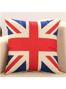 The Union Jack Print Cotton & Linen Throw Pillow