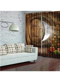 Amazing Christmas Theme Energy Saving 3D Curtain