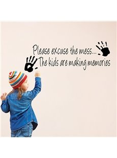 Creative Please Excuse the Mess Nursery Removable Wall Sticker