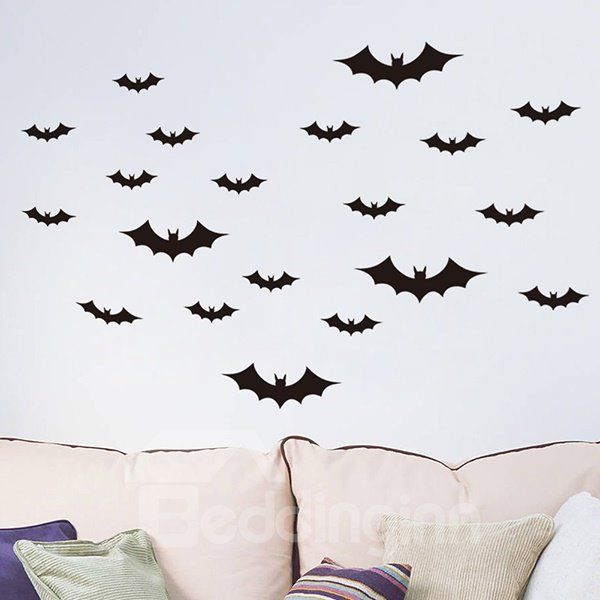 Halloween Theme Bat Darkness of Evil Removable Wall Sticker