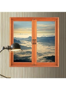 Amazing Window View Fairyland Sea of Clouds 3D Wall Sticker