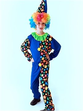 Colorful Humorous Cheerful Clown Kids Halloween Costume