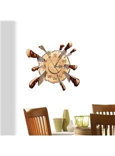 Amazing Knives on Target 3D Sticker Wall Clocks