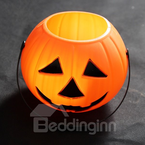 Large Size Pumpkin Bucket Halloween Decoration