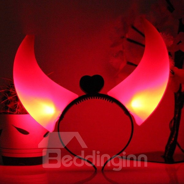 Large Size Shiny Horn Pattern Halloween Decoration