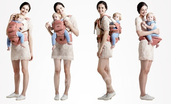 Convenient Easy to Use 8-in-1 Baby Hipseat Carrier