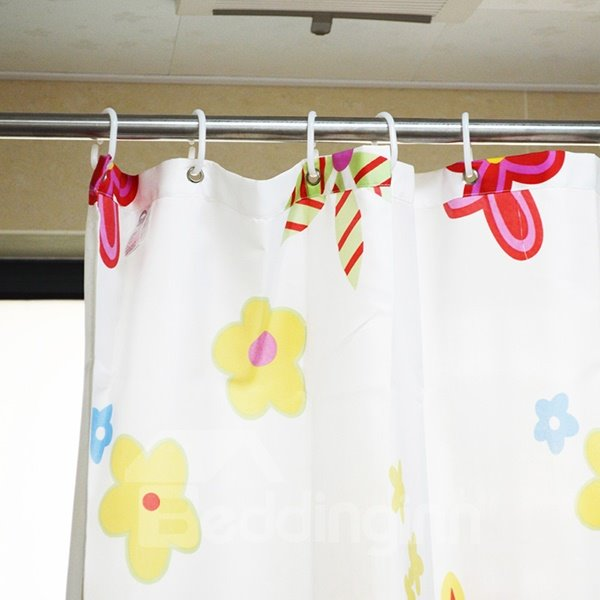 New Arrival Concise Pure White Shower Curtain Hooks(36 Hooks)