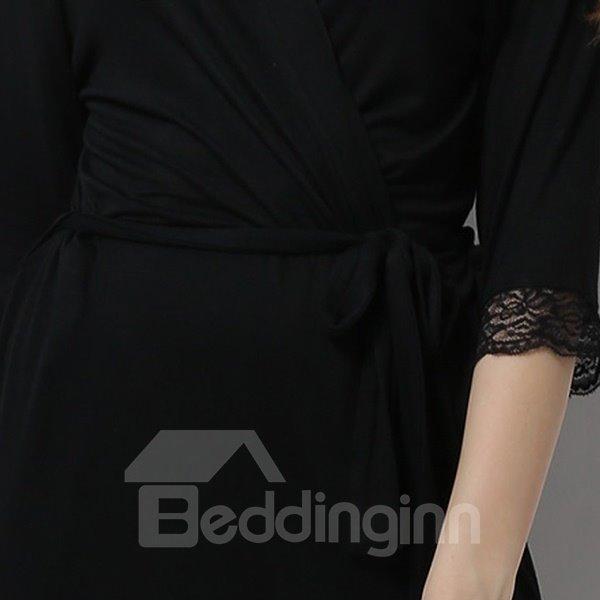 Charming Modal Fashion Black Lace Women